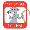 Year of The Rat 1948 T-Shirt & Gifts