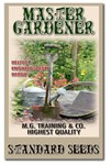 Master Gardener seed packet