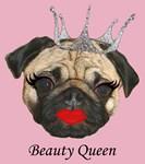 Beauty Queen Fawn Pug Merchandise