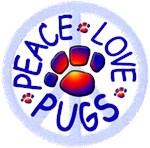 New! Peace Love Pugs