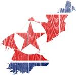 North Korea Flag And Map