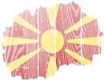 Macedonia Flag And Map