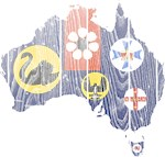 Australia States And Territories Flag And Map