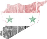 Syria Flag And Map