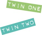 Twins One & Two Labels