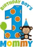 Monkey Birthday Boy's Mommy