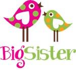 Polka Dot Birds Big Sister