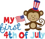 Monkey My First 4th of July