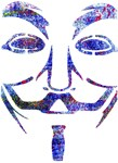 Inky colors Guy Fawkes