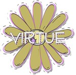 Young Woman Value Flower - Gold Virtue - LDS YW