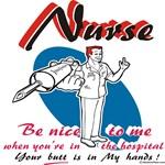 Male nurse, be nice to me