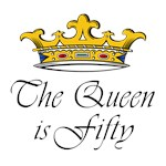 50th birthday woman gifts - Queen is fifty 50th