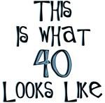 40th birthday 40 looks like funny t-shirt humor