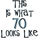 70th birthday humor, 70 looks like this, gifts