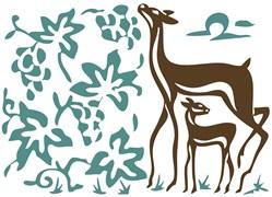 Deer in the Vineyard Batik