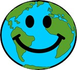 Smiling Earth Smiley