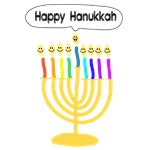 Happy Hanukkah Menorah
