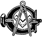 Hammer with Square and Compasses