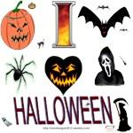 I Love Halloween Section