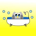 Owl In Tub (Yellow)