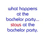 WHAT HAPPENS AT THE BACHELOR PARTY STAYS