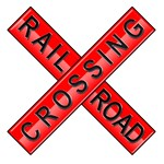 Red Rail Road Sign