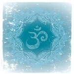 Blue Om Emblem