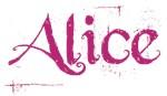 Alice (pink script)