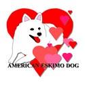 American Eskimo Hearts
