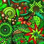 Swirls of Greens