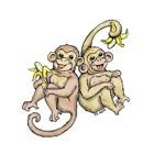 Baby Monkey Twins