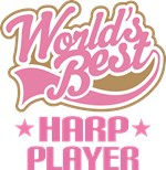 World's Best Harp Player Music Gifts