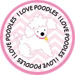 I Love Poodles pet owner tees