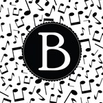 Music Monogram Letter B Gifts
