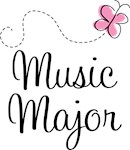 Cute Music Major T-shirts and Hoodies