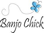 Cute Music Banjo Chick Tee Shirts
