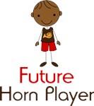 Cute Future Horn Player Kids Tees