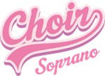 SOPRANO CHOIR MUSIC GIFT T-SHIRTS