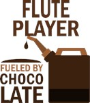Flute Player Fueled By Chocolate Gifts