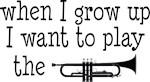 Future Trumpet Player Kids Music T-shirts