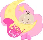 French Horn Baby Music Clothing