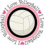 Cute I Love Volleyball Tees and Gifts