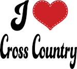 I Heart Cross Country T-shirts and Gifts