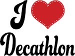 I Heart Decathlon T-shirts and Gifts