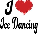 I Heart Ice Dancing T-shirts and Gifts