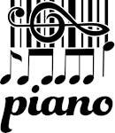 Piano Music Treble Clef Logo T-shirts