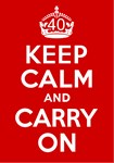 40th Birthday Gifts, Keep Calm & Carry On!