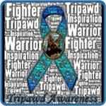 Tripawd Awareness Ribbon (Personalizable)