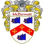 McDermott Coat of Arms (Mantled)