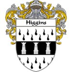 Higgins Coat of Arms (Mantled)